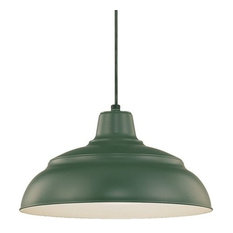 green pendant lighting. Millennium Lighting Incorporated - RWHC14 R Series 1 Light Warehouse Pendant Green