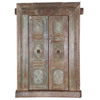Nala Antique Reclaimed Doors With Frame