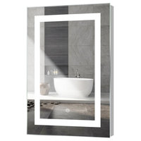 """Kent LED Mirror With Touch Sensor, 24""""x36"""""""