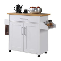 Microwave Cart, White