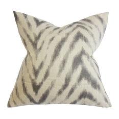 "Quay Zigzag Pillow Gray 20""x20"""