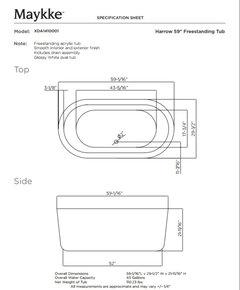 harrow oval freestanding bathtub white acrylic modern