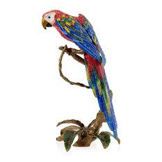 Jay Strongwater Skylar Macaw Sculpture
