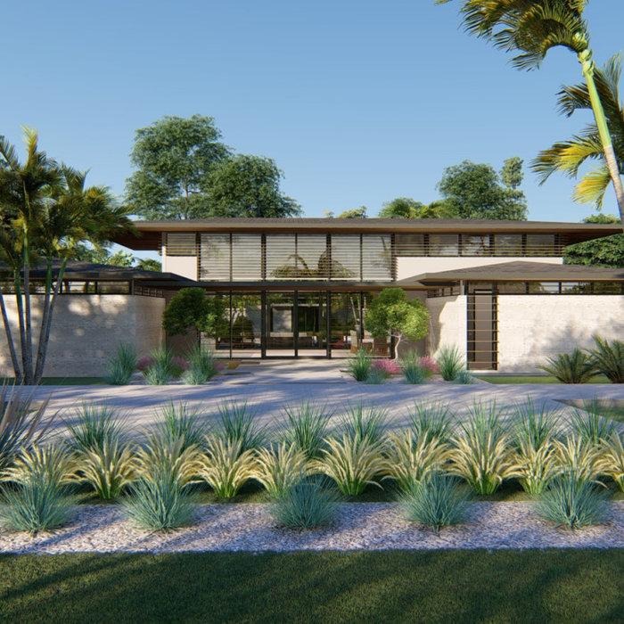Example of a minimalist home design design in Miami