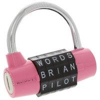Wordlock Combination Padlock 5 Dial, Pink