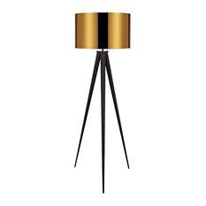 Romanza Tripod Floor Lamp, Gold