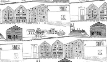 Town Wallpaper, White/Black
