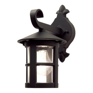 Wall Down Lantern, Black Finish