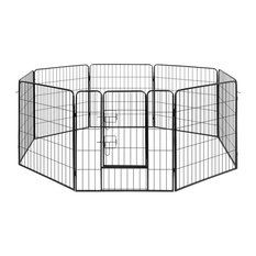 VidaXL Dog Playpen Crate Fence Puppy and Pet Exercise Cage Kennel 8-Panel