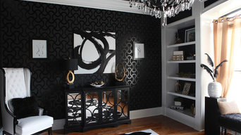 Black and White Piano Room