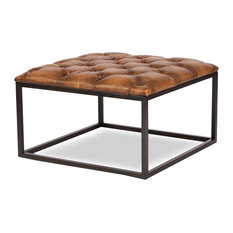 rustic ottomans and footstools | houzz