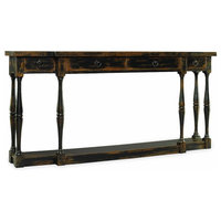 Sanctuary Four-Drawer Thin Console Ebony