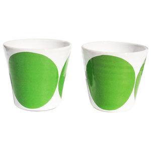 Tina Coffee Cups, Set of 2, Green