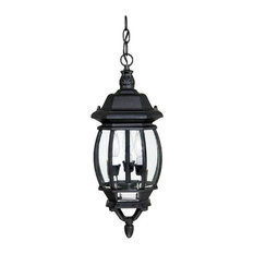 Capital Lighting 9864BK French Country Outdoor Hanging Light, Black