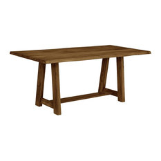 Colton Trestle Base For Table Top With 72-inch Crafted Live Edge Top