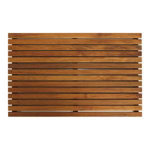 Zen Shower Mat, Solid Teak Wood