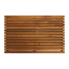 cortesi home zen shower mat solid teak wood bath mats