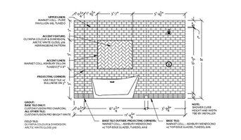Master Bathroom Tile Detail Elevation