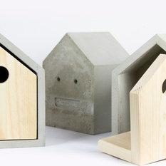 moderne vogelh uschen futterhaus nistkasten designs houzz. Black Bedroom Furniture Sets. Home Design Ideas