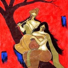 - Beautiful Painting of Romantic couple by Chetan Katigar - Paintings