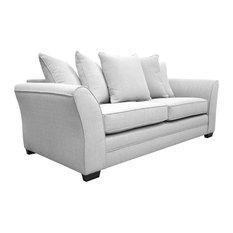 Westbridge Modern 3-Seater Scatter Back Sofa, Ash