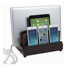 Ultra Charging Station and Dock, Rustic Modern, With 6-Outlet Power Strip
