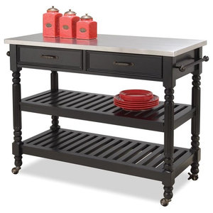 Mitchell Kitchen Cart With Granite Top Traditional
