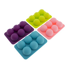 Freshware - Silicone Round Molds, Set of 4 - Candy and Chocolate Molds