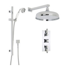 """Traditional Hudson Reed Shower System with 12"""" Apron Rainfall Head & Handset"""