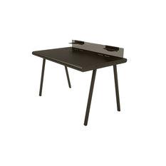 """Peter Pepper Products - 48"""" NIK Desk, Black Frame, Black Top - Desks and Hutches"""