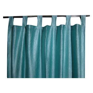 Mogul Interior - Window Dressing Aero Blue Tab Top 2 Sari Curtain Drape Panel - Curtains
