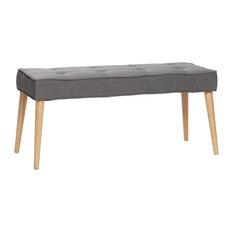Hübsch Bench, Dark Grey