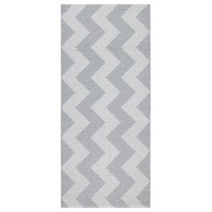 Mora Modern Vinyl Floor Cloth, Grey, 60x240 Cm