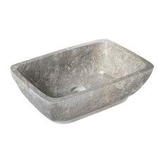 Alinéa - Toscane Fine vasque de salle de bains en marbre à poser - Lavabos