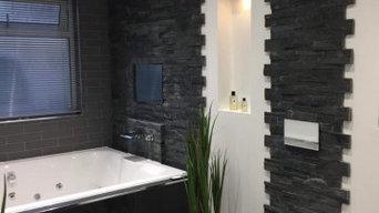 Garage conversion to luxury bathroom