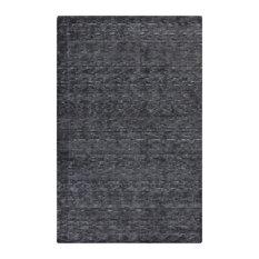 "Surya Gaia 3'3""x5'3"" Hand Tufted Wool Rug, Black"