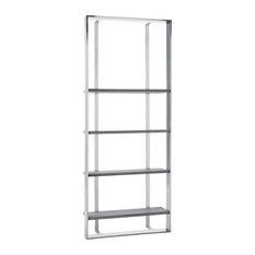 """Sunpan Club Collection Dalton Bookcase, Small (35.5"""" W), Gray"""
