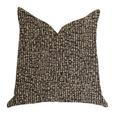 "Chameleon Bronze and Gold Tone Luxury Throw Pillow, Double Sided 20""x20"""