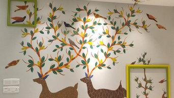 Wall Art Mural- Tribal Gond Art