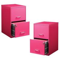 Value Pack (Set of 2) 2 Drawer File Cabinet in Pink