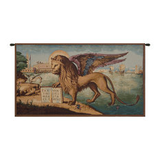 Lion Arrives in Venice Italian Wall Hanging Tapestry