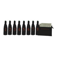 Blind Wine Tasting Kit w/ Pouch for 8 Bottles