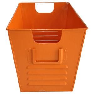 Large Oldschool Storage Bin, Orange