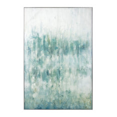 Benzara Transitional Style Canvas Oil Painting in Pinewood Frame, Multicolor