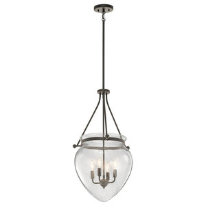 Foyer Pendant 4-Light by Kichler, Traditional Style, Bronze Finish