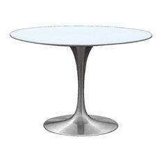 """Fine Mod Imports  Silverado Dining Table, Silver, 29.5""""hx30""""wx30""""d"""