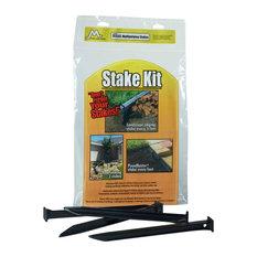 """Master Mark Plastics Landscape Edging Stake Kit, 10"""", 20 Pack, Black"""