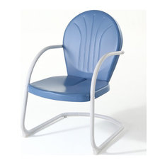 Crosley Griffith Metal Patio Chair in Sky Blue