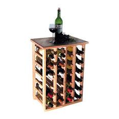 24 Bottle Floor Model Wine Rack, Oak