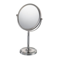 Aptations 7 7/8   Recessed Base Double Sided Makeup Mirror in Brushed Nickel